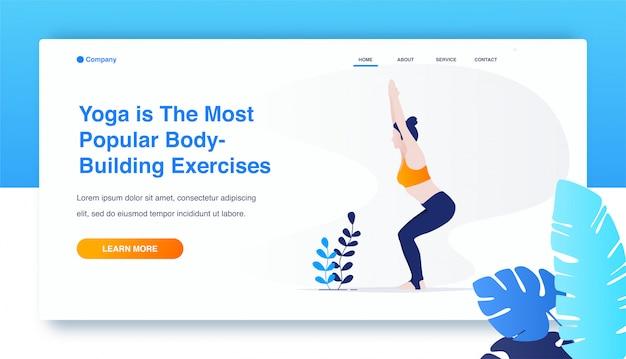 Übendes yoga der frau, utkatasana-übung, stuhlhaltung