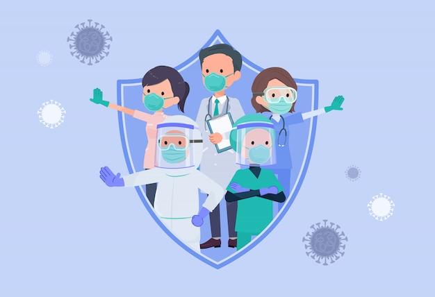 Über covid19_doctors zu schützen