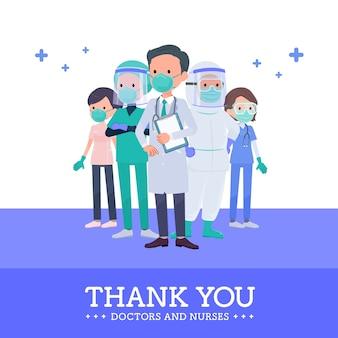 Über covid19_thanks doctor nurse formation center