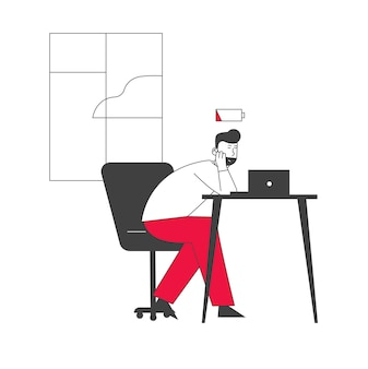 Überarbeitung burnout müdigkeit müdigkeit und depression konzept.
