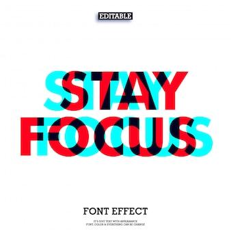 Überdruck bleiben fokus text design