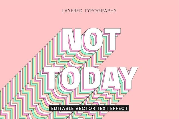Überlagerte bearbeitbare texteffektvorlage 3d-typografie