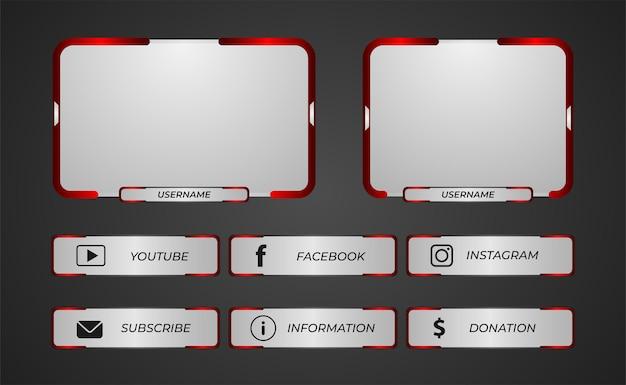 Überlagerung der zuckenden panels für das streaming von spielen
