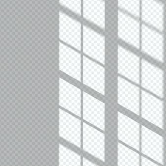 Überlagerungseffekt für transparente fensterschatten