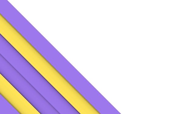 Überlappende schicht der abstrakten gelben und purpurroten streifen. komplett neues design für ihr unternehmen.