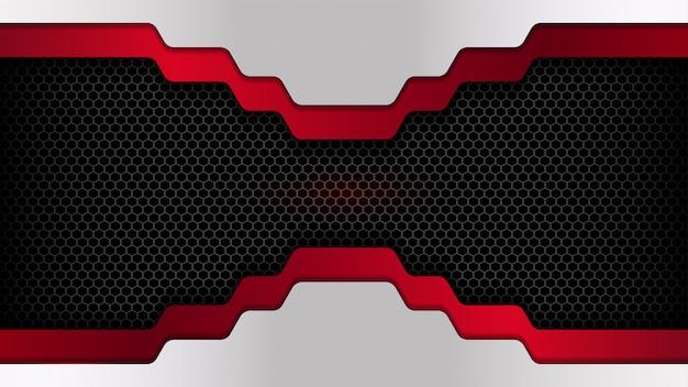 Überlappenden hintergrund mit sechseck textur