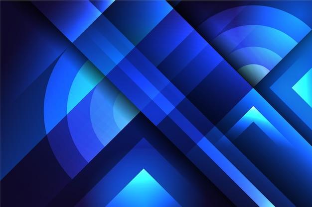 Überlappendes blau bildet hintergrund