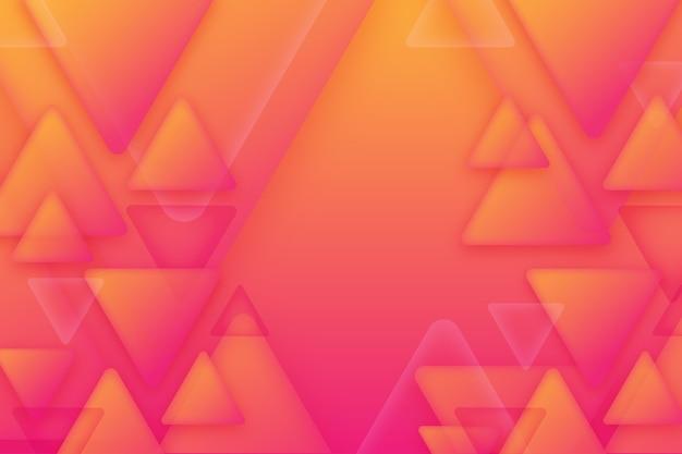 Überlappendes dreieckshintergrunddesign