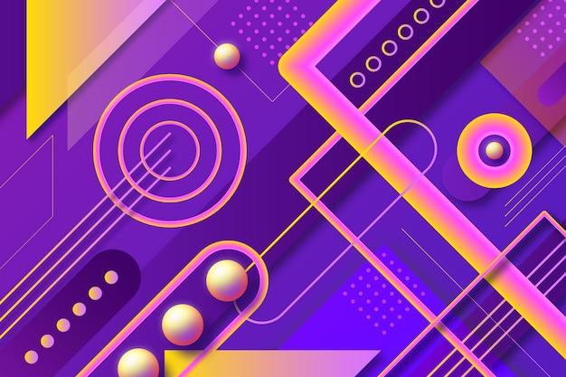 Überlappendes purpur bildet hintergrund