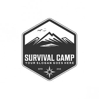 Überleben camp logo vintage