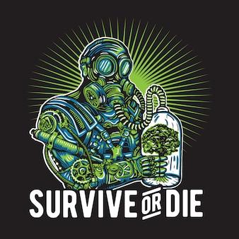 Überleben oder sterben nach dem menschen