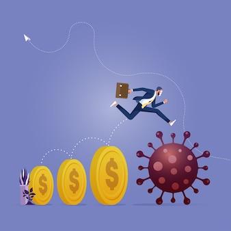 Überleben und gewinnen sie in der wirtschaftskrise des coronavirus-ausbruchs