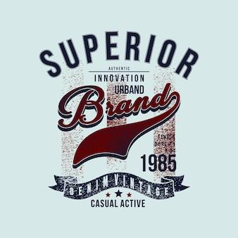 Überlegene urbane marke denim vintage grafik t-shirt design typografie vektor-illustration