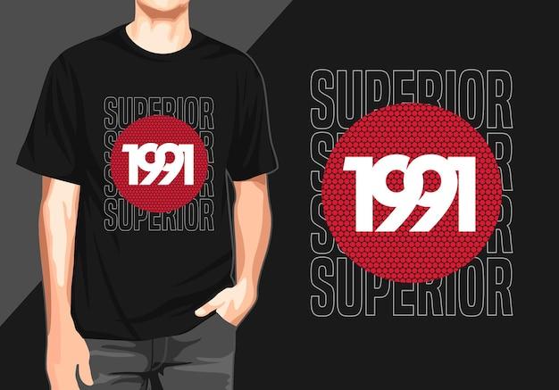 Überlegenes grafisches t-shirt