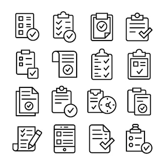 Überprüfte aufgabenliste icons pack