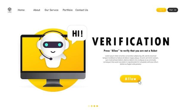 Überprüfung auf der webvorlage der computeranzeige. personifizierung, überprüfungstechnologien, benutzerpasswort.