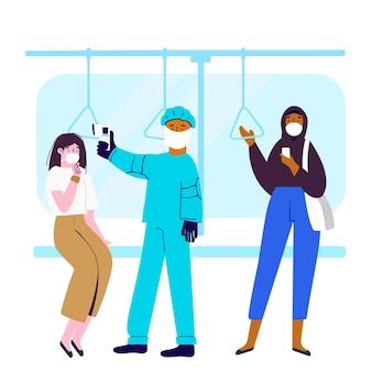 Überprüfung der körpertemperatur an öffentlichen orten