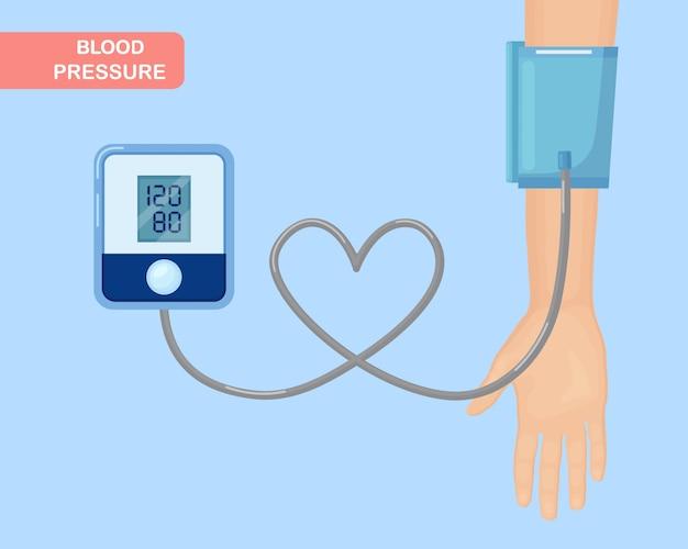 Überprüfung des arteriellen blutdrucks mit einem tonometer