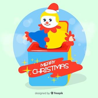 Überraschungskasten weihnachtshintergrund