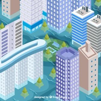Überschwemmung in der stadt