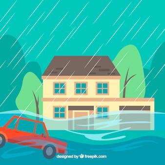Überschwemmungsentwurf