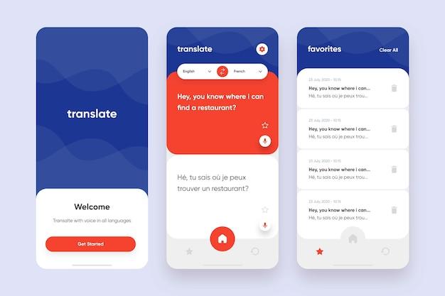 Übersetzer-app-sammlungsvorlage