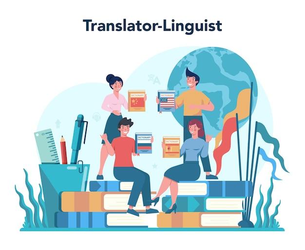 Übersetzer- und übersetzungsservicekonzept