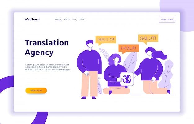 Übersetzung design konzept banner