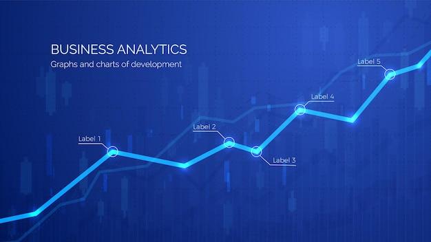 Überwachung des finanzgewinns und der statistischen darstellung