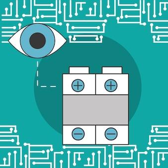 Überwachungsbatterie technologie digitale schaltung