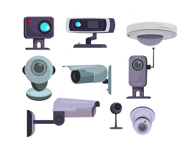 Überwachungskamera eingestellt