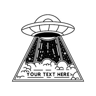 Ufo-abzeichen oder ufo-logo