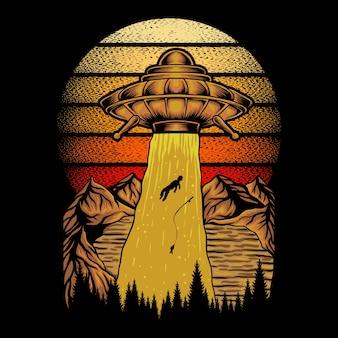 Ufo fangen fischer retro
