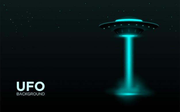 Ufo realistischen hintergrund