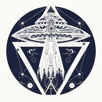 Ufo-tätowierung