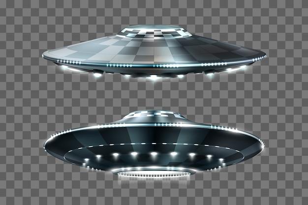 Ufo. unbekanntes flugobjekt. futuristisches ufo.
