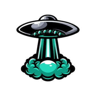 Ufo-vektor-element-logo