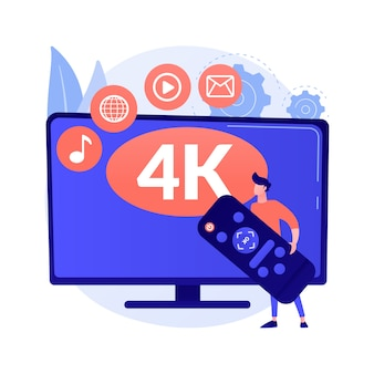 Uhd smart tv abstrakte konzeptillustration