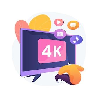Uhd smart tv abstrakte konzeptillustration