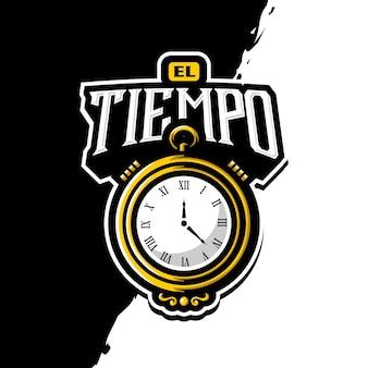 Uhr maskottchen logo esport gaming