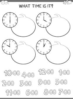 Uhrgesicht lernspiel für kinder