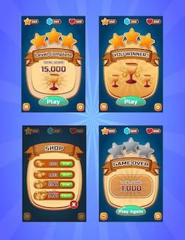 Ui design game level display template design