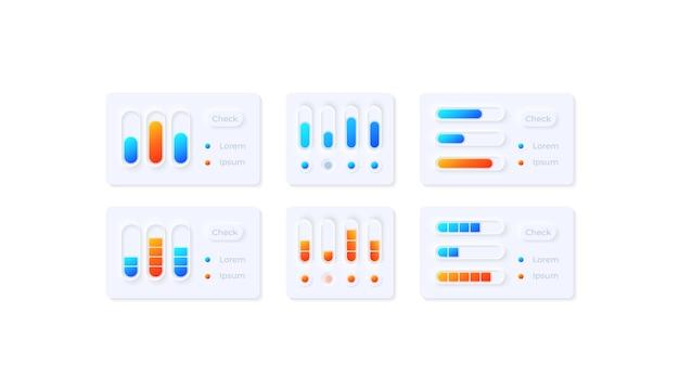 Ui-elemente-kit für medieneinstellungen