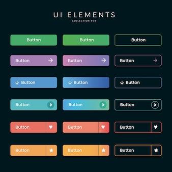 Ui-schaltflächen webdesign