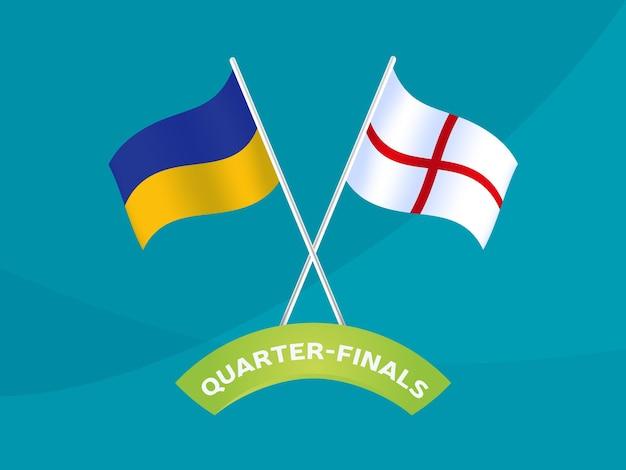 Ukraine vs england match-vektor-illustration fußball-meisterschaft 2020