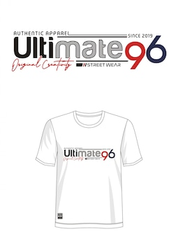 Ultimative 96 typografie für bedrucktes t-shirt