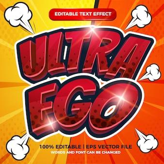 Ultra ego editierbarer texteffekt cartoon comic vorlage stil halbton hintergrund