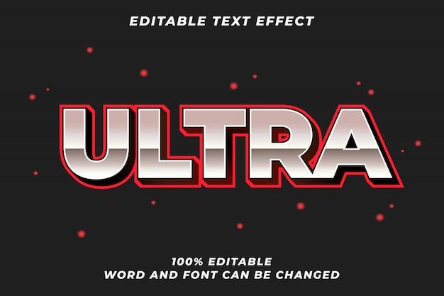 Ultra party text style effekt