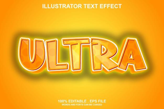 Ultra-texteffekt editierbar