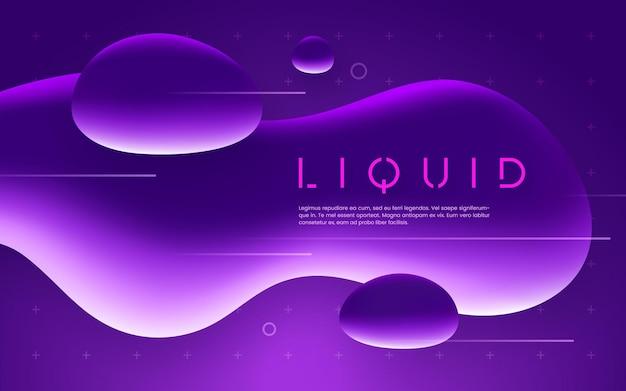 Ultraviolettes futuristisches design mit neon-flüssigkeitsblasenformen